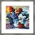 Springs Smile - Palette Knife Oil Painting On Canvas By Leonid Afremov Framed Print