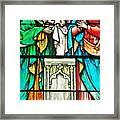 St. Edmond's Church Stained Glass Window - Rehoboth Beach Delaware Framed Print