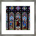St. Michael's Parish Stained Glass Framed Print