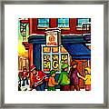 St. Viateur Bagel With Hockey Framed Print
