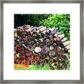 Stacked Firewood Framed Print