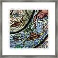 Stain Glass Set 1 - Bath House - Hot Springs, Ar Framed Print