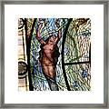Stain Glass Set 3 - Bath House - Hot Springs, Ar Framed Print