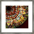 Stained Glass Ceiling Framed Print