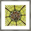 Stained Glass Kaleidoscope Framed Print