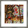 Stained Glass Lantern And Window Framed Print