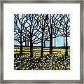 Stained Glass Trees Framed Print
