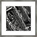 Stairwell Hell Framed Print