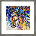 Stallion Southwest By M Baldwin Framed Print