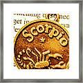 Star Sign In Scorpio Framed Print