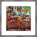 Starbucks Cafe On Monkland Montreal Cityscene Framed Print