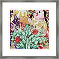 Starring The Christmas Cactus Framed Print