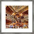 Stately Library Framed Print