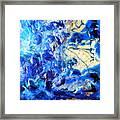 Stellar Blue Tides Framed Print
