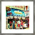 Stephanies Icecream Stand Framed Print