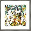 Steve Vai Paint Splatter Framed Print