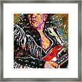 Stevie Ray Red Guitar Framed Print