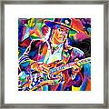 Stevie Ray Vaughan Framed Print by David Lloyd Glover