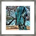 Stevie Ray Vaughan Vibrant Colors Framed Print