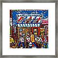 Stilwell's Candy Stop Winterscene Painting For Sale Montreal Hockey Art C Spandau Snowy Barber Shop Framed Print