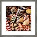 Straw Bags Oaxaca Mexico Framed Print