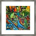 Streams In The Wilderness Framed Print by Chaline Ouellet