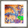 Street Canvas Framed Print
