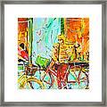 Street Of Amsterdam - Four Girls Framed Print