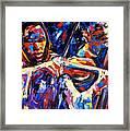 Strings Of Jazz Framed Print