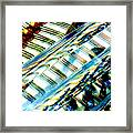 Strings Z100 Abstract Framed Print