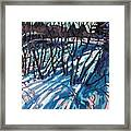 Sumac Snow Shadows Framed Print