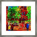 Summer At Mcgill University Framed Print