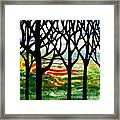 Summer Forest Abstract  Framed Print