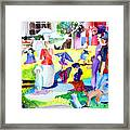 Summer With In The Park With George Framed Print