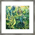 Summer's Joyous Meeting Framed Print