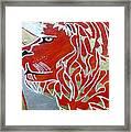Sun Lion Framed Print