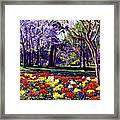 Sunday In The Park Framed Print by David Lloyd Glover