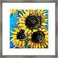 Sunflower Bouquet Framed Print