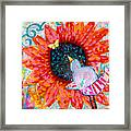 Sunflower In The Middle Framed Print