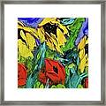 Sunflowers And Poppies - Little Treasures Series Framed Print