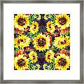 Sunflowers Impressionism Pattern Framed Print