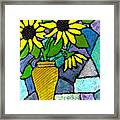 Sunflowers In A Vase Framed Print