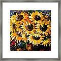 Sunny Bouquet Framed Print