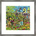 Sunny Garden Delight Framed Print