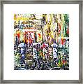Sunrise City Rain Framed Print