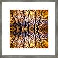 Sunset Tree Silhouette Abstract 1 Framed Print