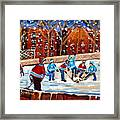 Sunsetting On My Street Framed Print