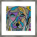 Super Hero - Contemporary Dog Art Framed Print