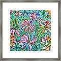 Swirling Color Framed Print