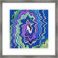 Swirling Wave Framed Print